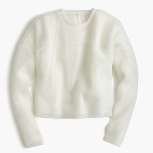 J Crew Collection white mesh sweatshirt XS
